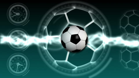 Soccer Ball Sport Background 20 (HD) Stock Video Footage