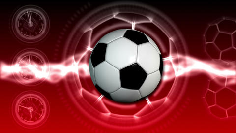 Soccer Ball Sport Background 22 (HD) Stock Video Footage