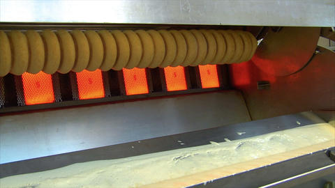 german bakery make baumkuchen cake dolly wide 10783 Stock Video Footage