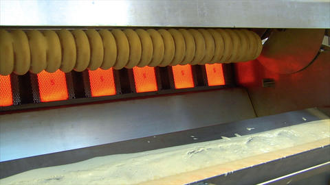 German Bakery Make Baumkuchen Cake Dolly Wide 10783 stock footage