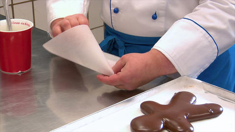 german confectioner build parchment paper pastry tube 10786 Footage