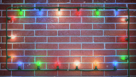 Christmas Title Background 001 Stock Video Footage