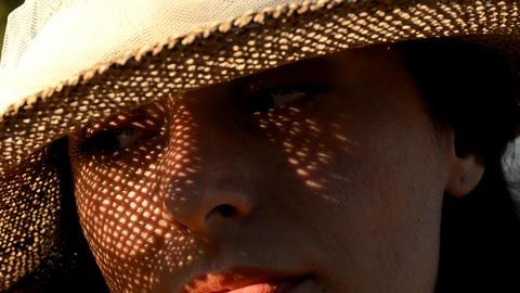 Eye of woman Footage