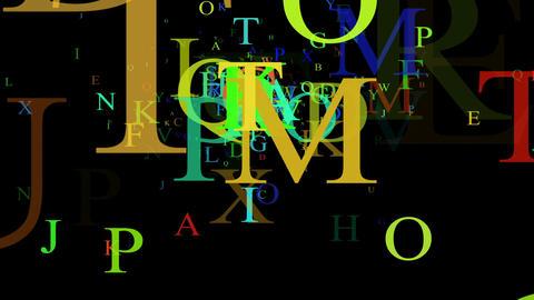 Alphabet, isolated on black background, loop Stock Video Footage
