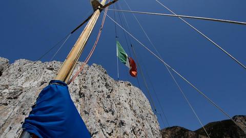 Italian boat Stock Video Footage
