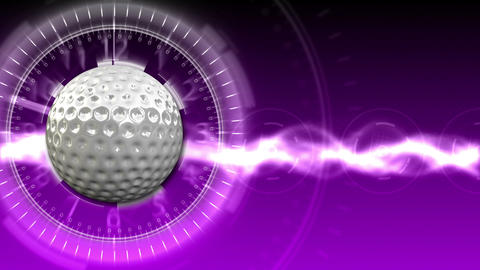 Golf Ball Background 13 (HD) Stock Video Footage
