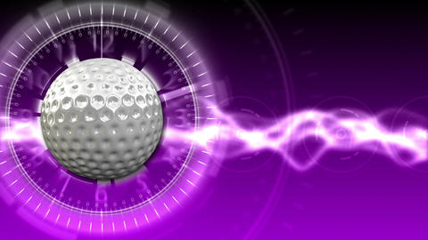 Golf Ball Background 13 (HD) Animation
