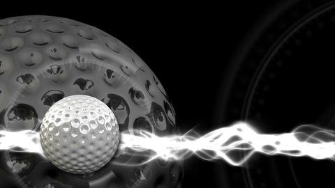 Golf Ball Background 15 (HD) Stock Video Footage