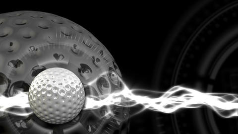 Golf Ball Background 15 (HD) stock footage