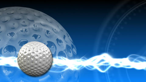 Golf Ball Background 17 (HD) Stock Video Footage