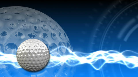Golf Ball Background 17 (HD) stock footage