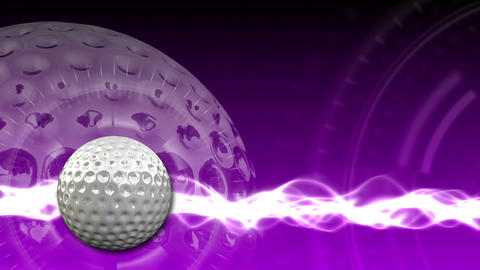 Golf Ball Background 19 (HD) Stock Video Footage