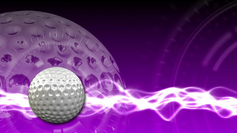 Golf Ball Background 19 (HD) stock footage