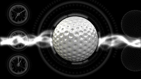 Golf Ball Background 21 (HD) Stock Video Footage