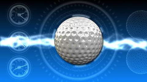 Golf Ball Background 23 (HD) Stock Video Footage
