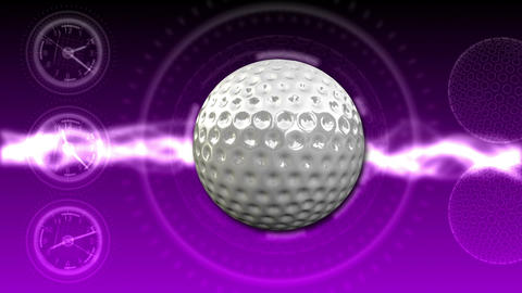 Golf Ball Background 25 (HD) Stock Video Footage