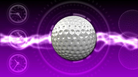 Golf Ball Background 25 (HD) CG動画素材