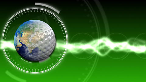Golf Earth Background 27 (HD) Stock Video Footage