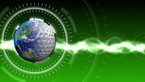 Golf Earth Background 27 (HD) stock footage