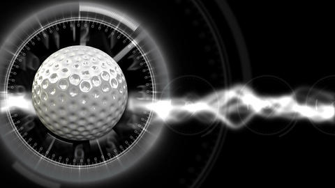 Golf Ball Background 29 (HD) Stock Video Footage