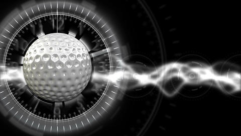 Golf Ball Background 29 (HD) CG動画素材