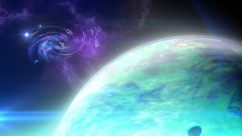 Far planet loop Stock Video Footage