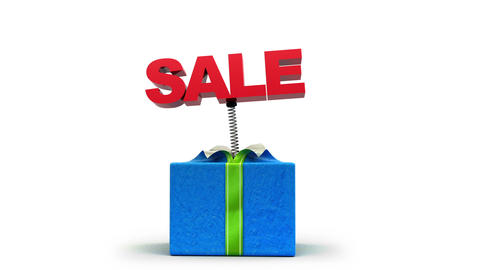 Sale out of the box! Holiday gift Stock Video Footage
