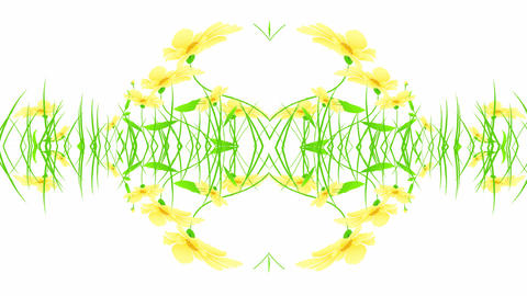 floral designs yellow Animation