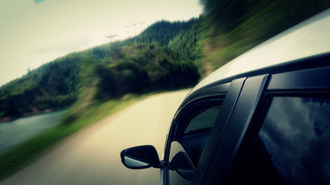 Countryside Car Trip 01 Stock Video Footage
