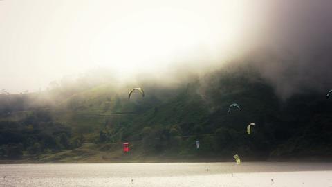 Kite Surf 01 Stock Video Footage