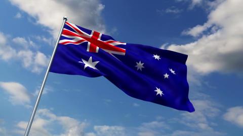 Australian flag Stock Video Footage