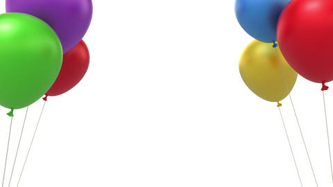 Balloons background Stock Video Footage
