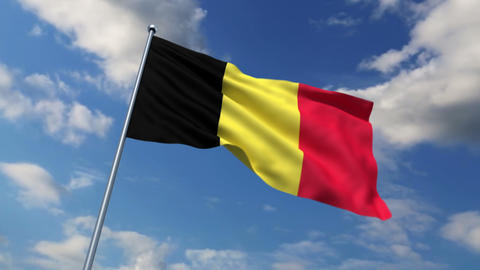 Belgian flag Stock Video Footage
