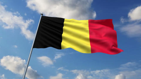 Belgian flag Animation