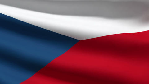 Czech flag Stock Video Footage