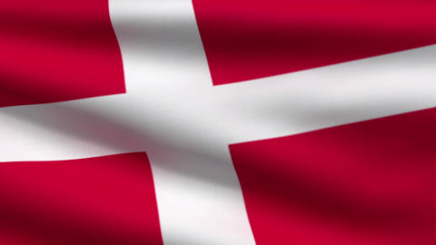 Danish flag Stock Video Footage