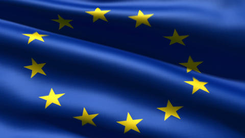 Eurounion flag Stock Video Footage