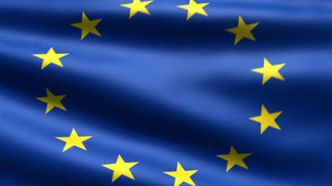 Eurounion flag Stock Video Footage