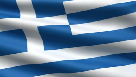 Greece flag Stock Video Footage