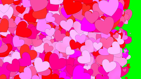 Hearts background Stock Video Footage