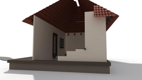 Time lapse animation of a building house with sola Stock Video Footage