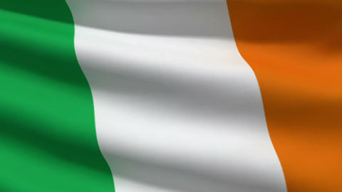 Irish flag Stock Video Footage