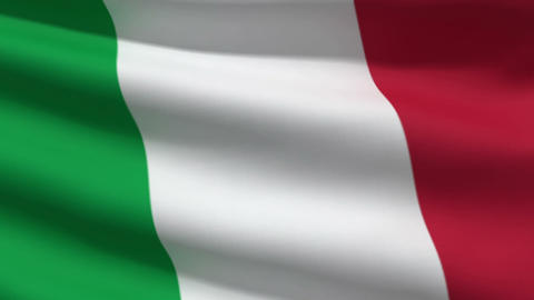 IItalian flag Stock Video Footage