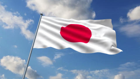 Japanese flag Stock Video Footage