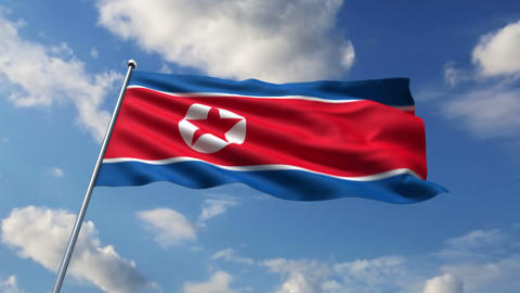 North Korean flag Animation
