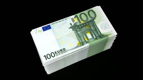 spending money(euro) Stock Video Footage