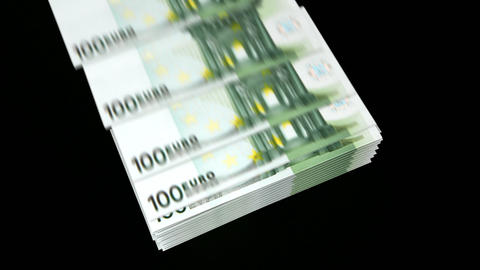 spending money(euro) Stock Video Footage