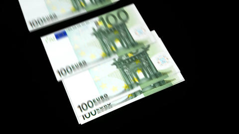 Spending Money(euro) stock footage