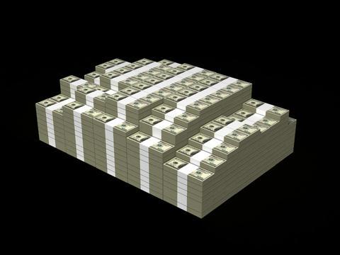 Rising money Stock Video Footage