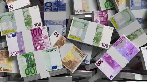 making money (euro money version) Stock Video Footage